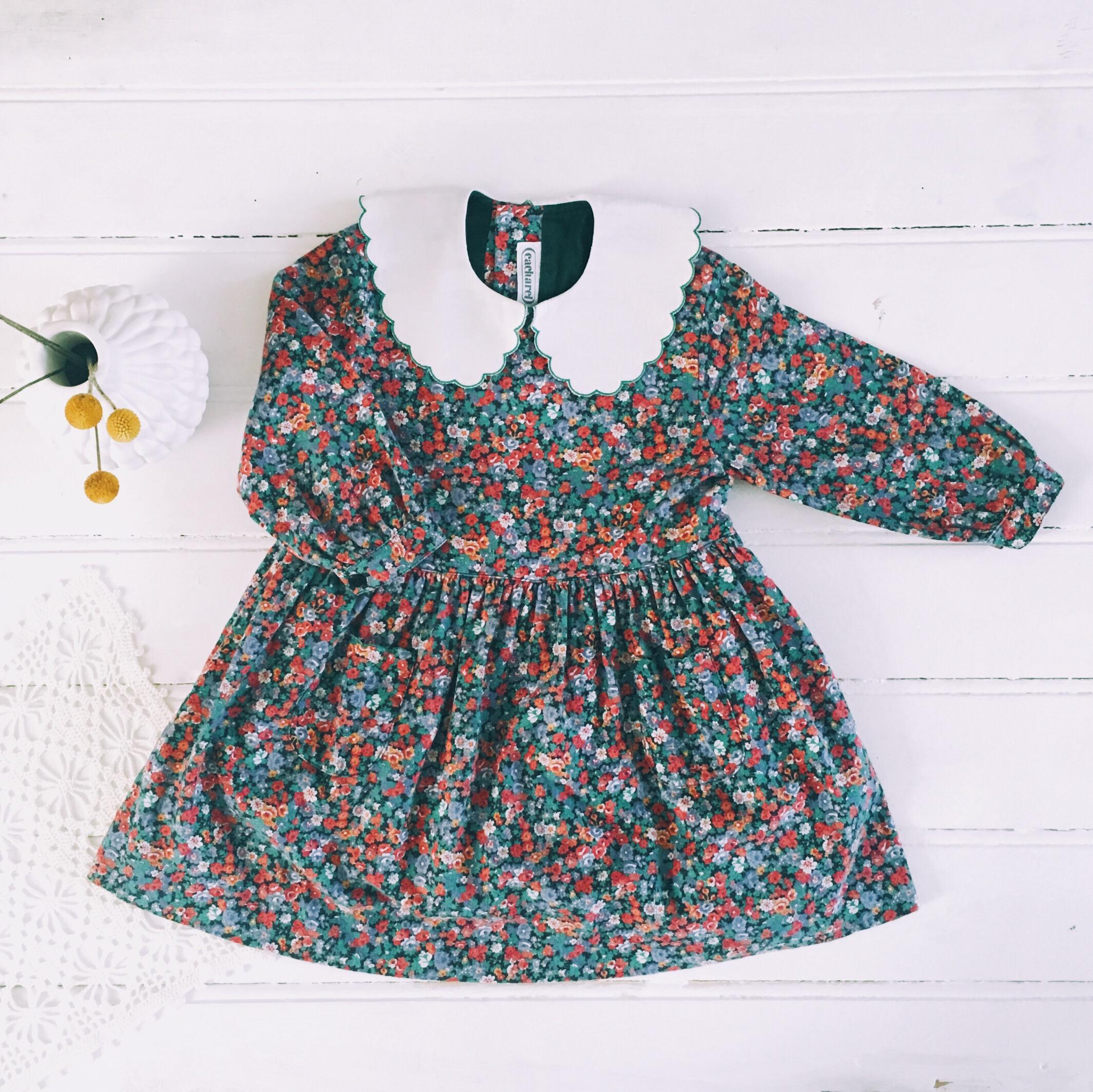 Une robe cacharel vintage chinée chez Emmaus